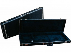 FENDER G&G Standard Mustang/Musicmaster/Bronco Bass Hardshell Case, Black with Acrylic Interior.