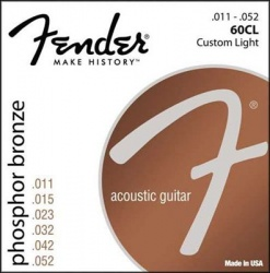 FENDER STRINGS NEW ACOUSTIC 60CL PH0S BRONZE 11-52