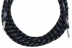 FENDER CUSTOM SHOP 18.6` INSTRUMENT CABLE BLACK TWEED