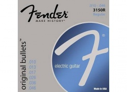 FENDER STRINGS NEW ORIGINAL BULLET 3150R PURE NKL BLT END 10-46