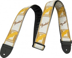 FENDER 2` MONOGRAMMED WHITE/BROWN/YELLOW STRAP