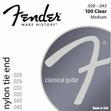 FENDER NYLON ACOUSTIC STRINGS 100 CLR/SLVR TIE END 028-.043