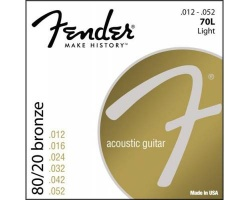 FENDER STRINGS NEW ACOUSTIC 70L 80/20 BRNZ BALL END 12-52