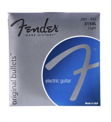 FENDER STRINGS NEW ORIGINAL BULLET 3150L PURE NKL BULLET END 9-42