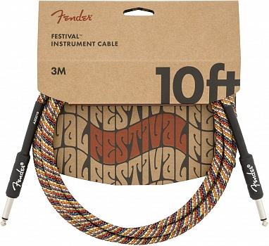 FENDER 10` INST CABLE, RAINBOW – фото 1