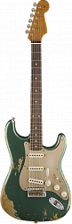 FENDER LIMITED EDITION HEAVY RELIC `59 ROASTED STRAT, AGED SHERWOOD GREEN METALLIC