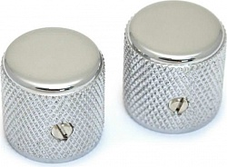 FENDER TELE/P.BASS KNOBS CHROME (2)