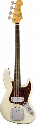 FENDER 2018 Journeyman Relic® 1960 Jazz Bass® - Aged Olympic White бас-гитара