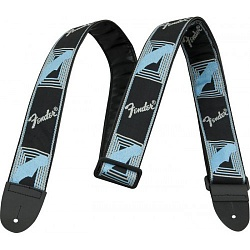 FENDER 2` MONOGRAMMED STRAP BLACK/LIGHT GREY/BLUE