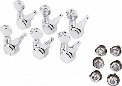 FENDER LOCKING TUNERS, CHROME VINT BUTTON