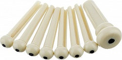 FENDER BRIDGE PIN SET, IVORY with BLACK DOT