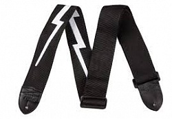 FENDER 2.5` NYLON LIGHTNING BOLT STRAP BLACK