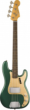 FENDER 2018 JOURNEYMAN RELIC® 1959 PRECISION BASS - AGED SHERWOOD GREEN METALLIC – фото 1