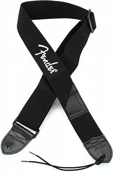 FENDER BLACK STRAP/WHITE LOGO