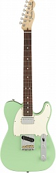 FENDER AMERICAN PERFORMER TELECASTER® WITH HUMBUCKING, ROSEWOOD FINGERBOARD, SATIN SURF GREEN