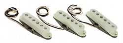 FENDER Pure Vintage `65 Strat Pickup Set, Vintage White (3)