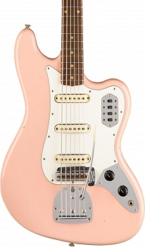 Fender Custom Shop 60s Journeyman Relic Bass VI, Aged Shell Pink – фото 2