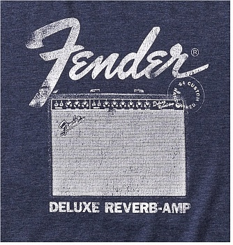 FENDER DELUXE REVERB T-SHIRT, BLUE S – фото 2
