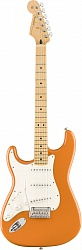 FENDER PLAYER STRATOCASTER® LEFT-HANDED, MAPLE FINGERBOARD, CAPRI ORANGE
