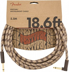 FENDER 18.6` ANG CABLE, PURE HEMP BRN