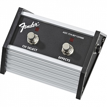 FENDER 2-Button Footswitch: Channel Select / Effects On/Off with 1/4` Jack
