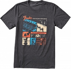 FENDER JAGUAR T-SHIRT, DRK GREY, S