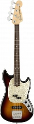 FENDER American Performer Mustang Bass®, Rosewood Fingerboard, 3-Color Sunburst бас-гитара