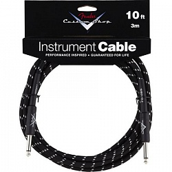 FENDER CUSTOM SHOP 10` INSTRUMENT CABLE BLACK TWEED