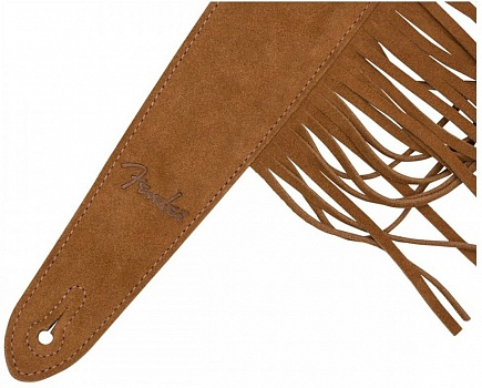 FENDER SUEDE FRINGE STRAP – BROWN – фото 2