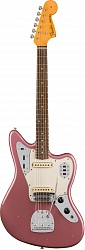 Fender Custom Shop 1963 Journeyman Relic Jaguar, Rosewood Fingerboard, Aged Burgundy Mist Metallic
