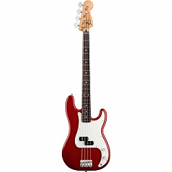 FENDER AM PRO Precision Bass® Rosewood Fingerboard Candy Apple Red бас-гитара