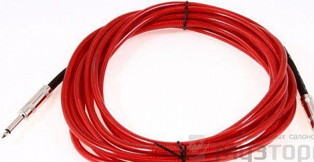 FENDER 15` CALIFORNIA INSTRUMENT CABLE CANDY APPLE RED – фото 3