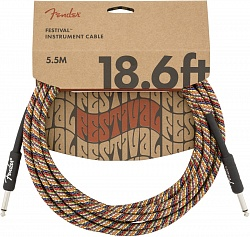 FENDER 18.6` INST CABLE, RAINBOW