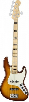FENDER American Elite Jazz Bass® V Ash, Maple Fingerboard, Tobacco Sunburst