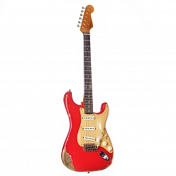 FENDER LIMITED EDITION HEAVY RELIC `59 ROASTED STRAT, AGED FIESTA RED