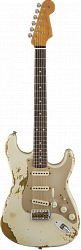 FENDER LIMITED EDITION HEAVY RELIC `59 ROASTED STRAT, AGED OLYMPIC WHITE